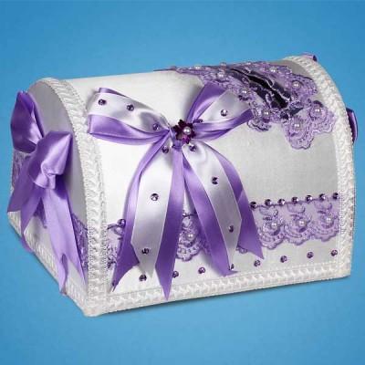 """Сундучок для денег """"Lilac bow"""""""