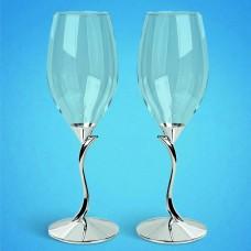 Свадебные бокалы на фигурной ножке
