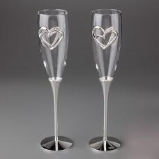 "Свадебные бокалы ""Сердце"""