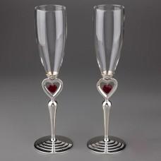 """Свадебные бокалы """"Красное сердце"""""""