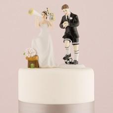 """Фигурка на торт """"Футболист и болельщица """""""