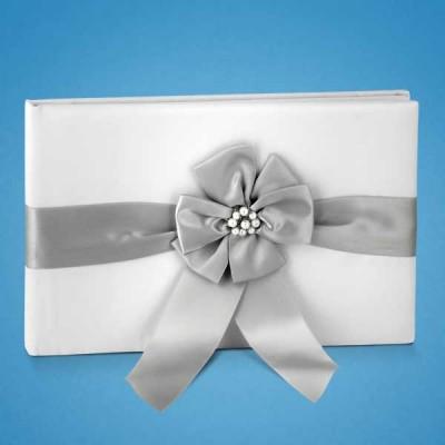 Книга для пожеланий с серым цветком