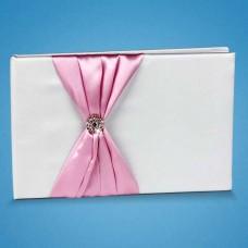 Книга пожеланий с розовой лентой