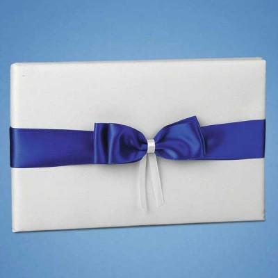 Книга пожеланий с синей лентой