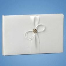 Книга для пожеланий с белой лентой