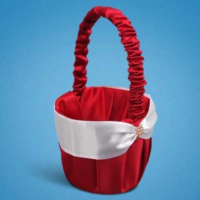 Красная корзинка для лепестков