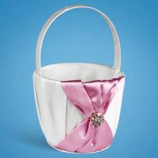 Корзинка для лепестков с розовой лентой