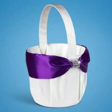 Корзинка для лепестков с фиолетовой лентой