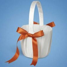 Корзинка для лепестков с оранжевой лентой