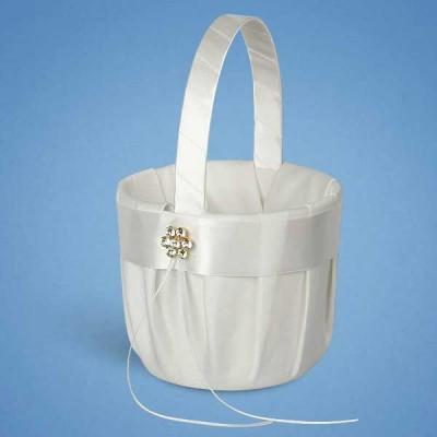 Корзинка для лепестков с белой лентой