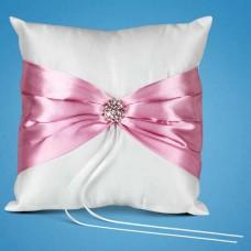 Подушечка для колец с розовой лентой