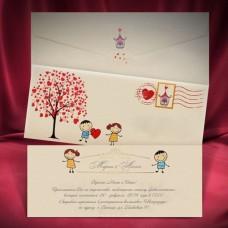 """Пригласительный на свадьбу """" Love tree"""""""