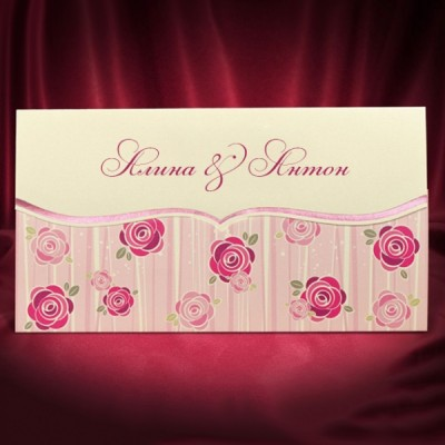 """Пригласительный на свадьбу """"Pink rose"""""""