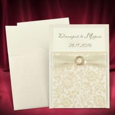 """Пригласительный на свадьбу """"Elegant Gold"""""""
