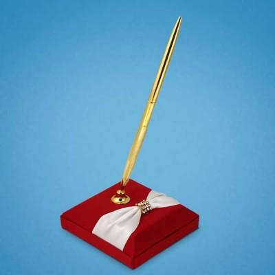 Ручка на красной подставке