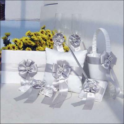 Свадебная коллекция с серыми ленточками