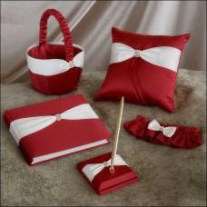 Свадебный набор красного цвета