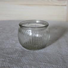 Подсвечник стеклянный круглой формы (ваза)
