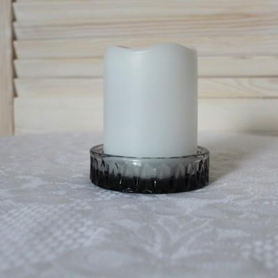 Подсвечник для большой свечи (серый)