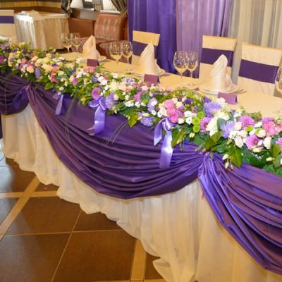 Банкетная юбка фиолетового цвета