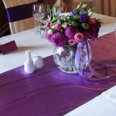 Дорожка на стол сиреневого цвета