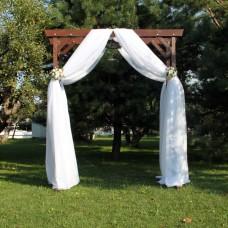 Ткань вуаль белого цвета