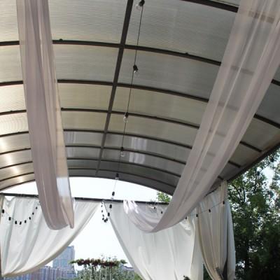 Белая ткань вуаль