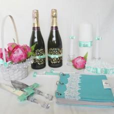 Свадебные аксессуары для мятной свадьбы