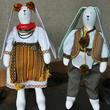 Тильда Зайцы в Украинских костюмах